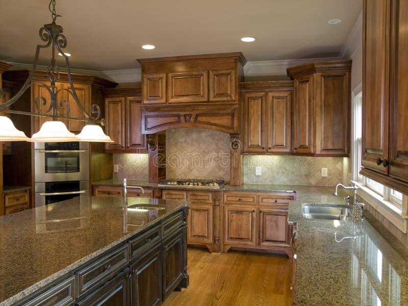 Luxury Kitchen with Center Island royalty free stock photo