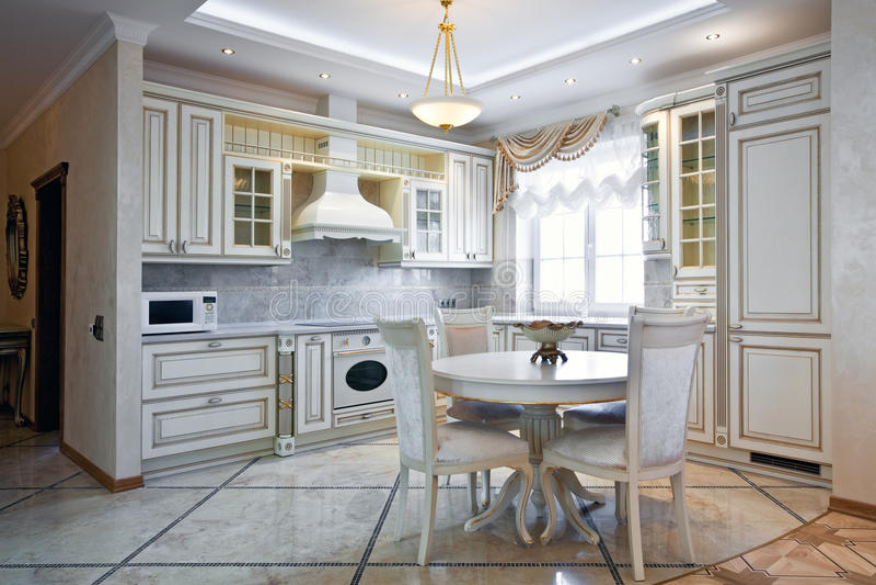 Luxury Kitchen Interior Royalty Free Stock Photo