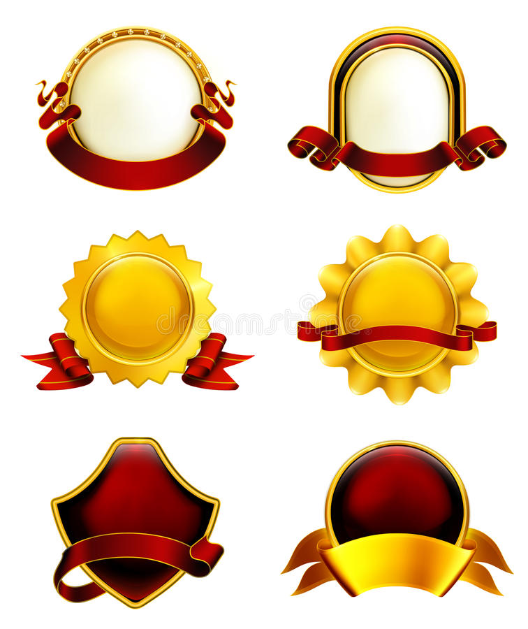 Luxury Labels With Ribbons Royalty Free Stock Photos