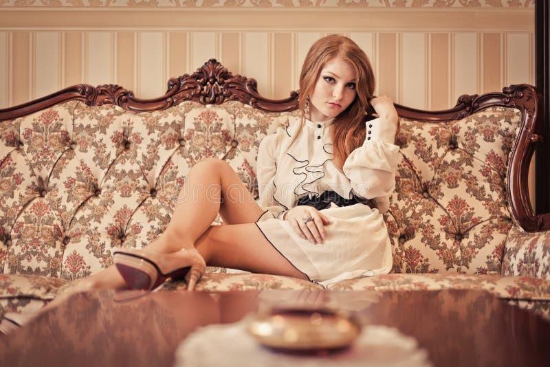 Luxury lady in luxury interior