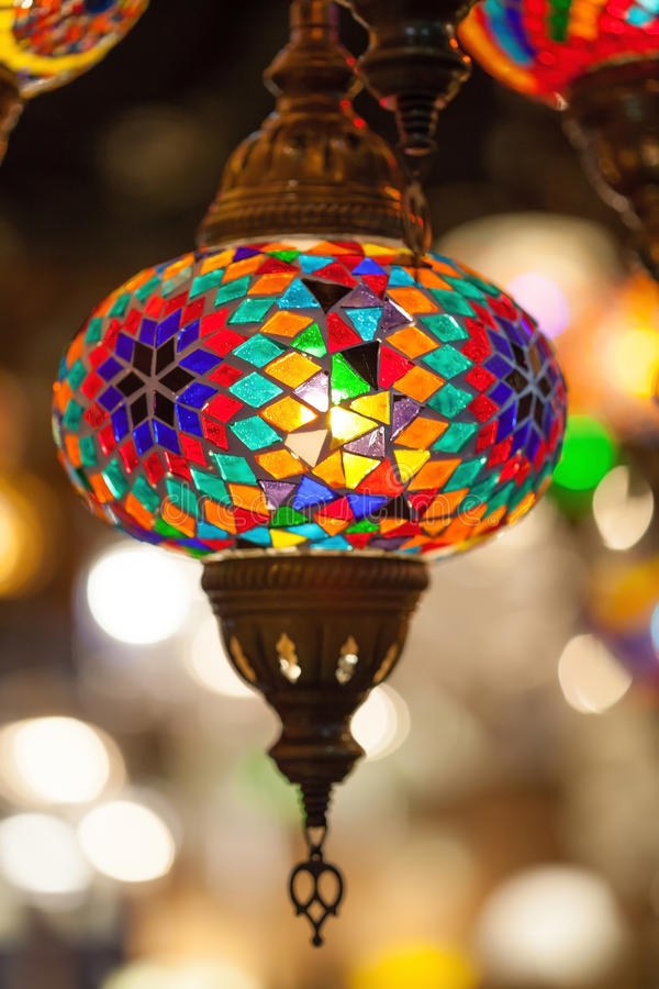 Luxury lamp with colorful. Luxury Colorful lamp with colorful stock photography