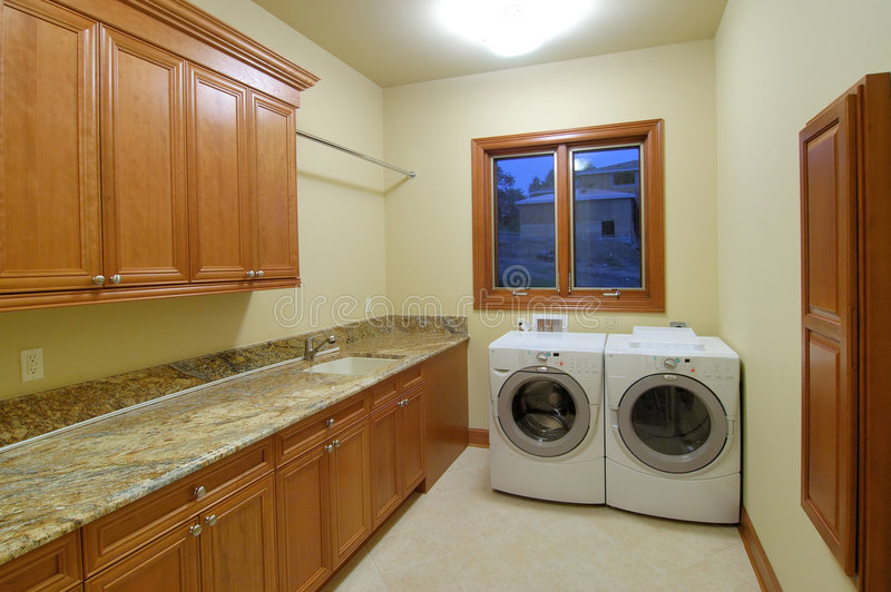 Luxury Laundry Room royalty free stock photo