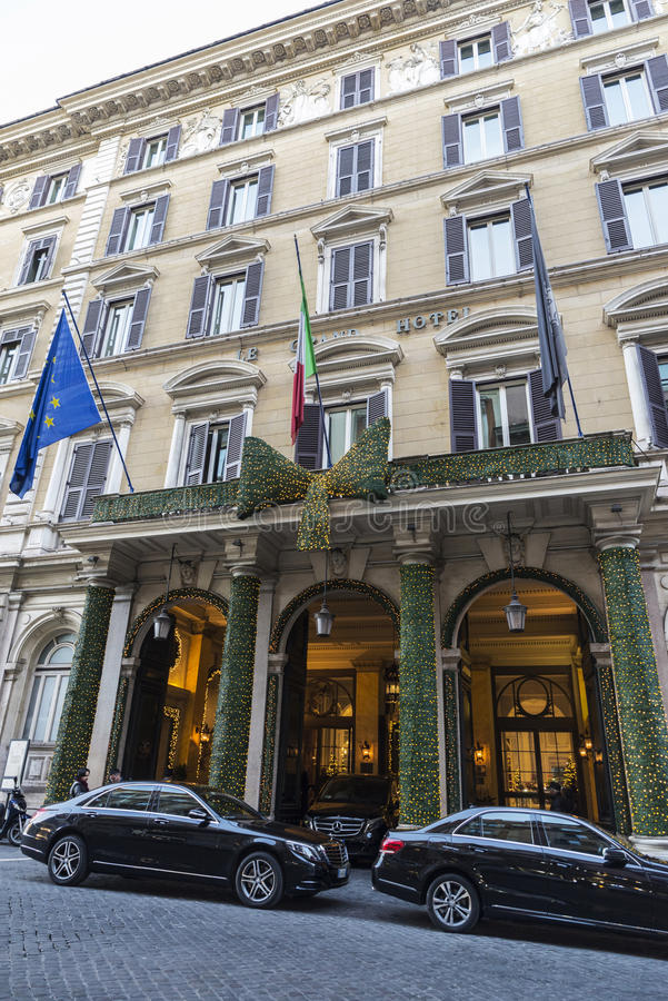 Luxury Le Grand Hotel In Rome, Italy. Editorial Image ...