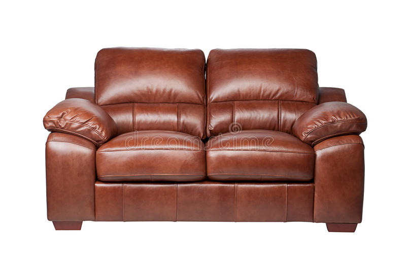 Luxury leather sofa stock images