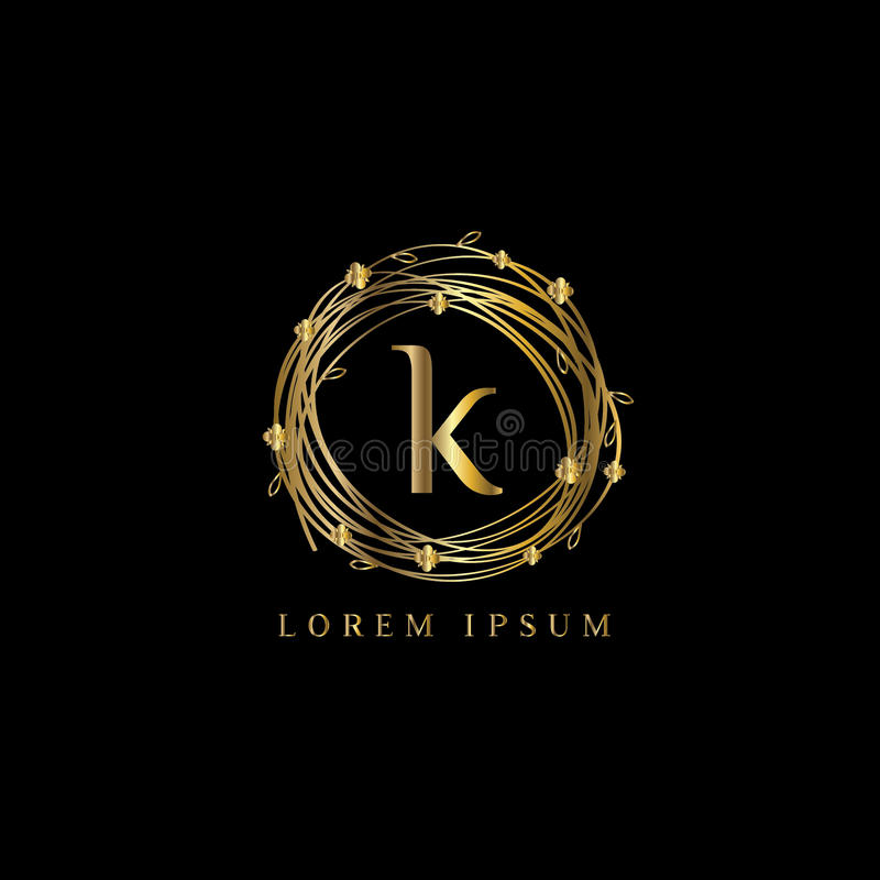 Luxury Letter K Logovector Logo Template Sign Symbol Icon Vector