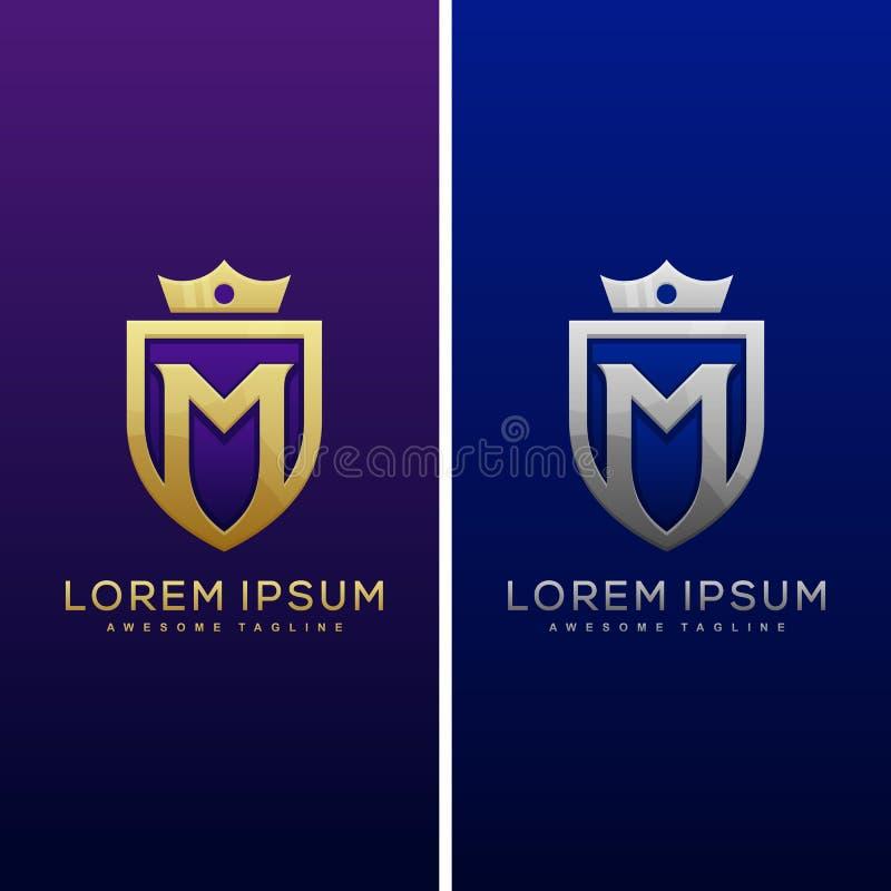Luxury Letter M Concept illustration vector Design template vector illustration