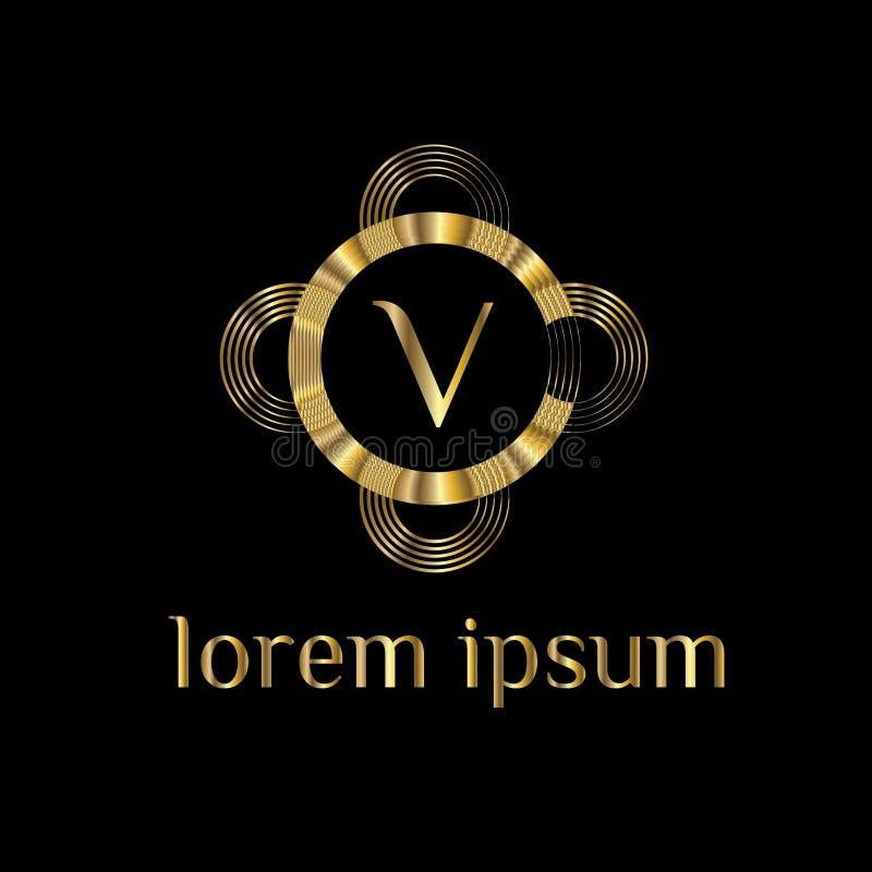 Luxury Letter V Logo. Vector Logo Template Sign, Symbol, Icon ...