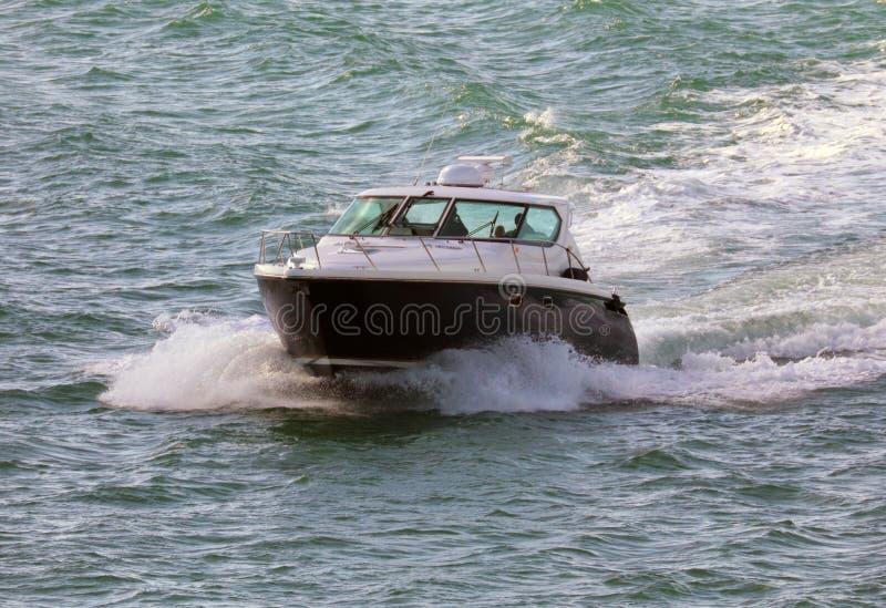 Luxury life yacht in Miami beach Florida Caribbean boat royalty free stock image