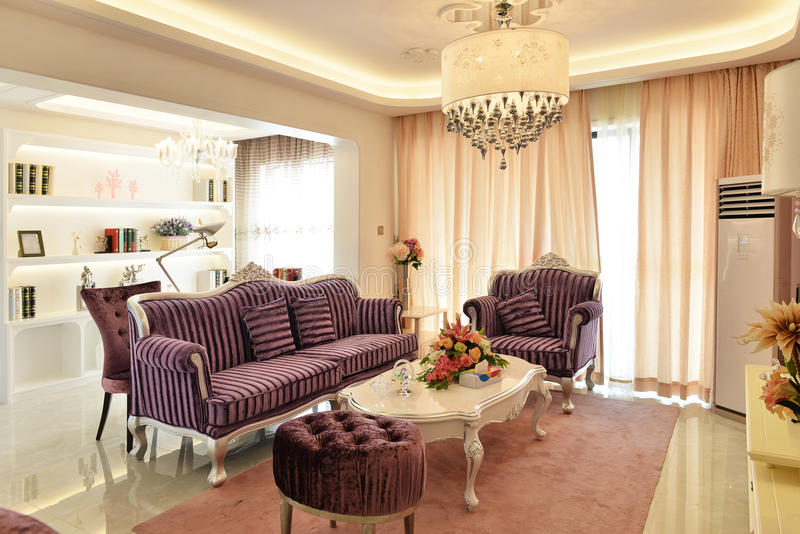Luxury living room royalty free stock photos
