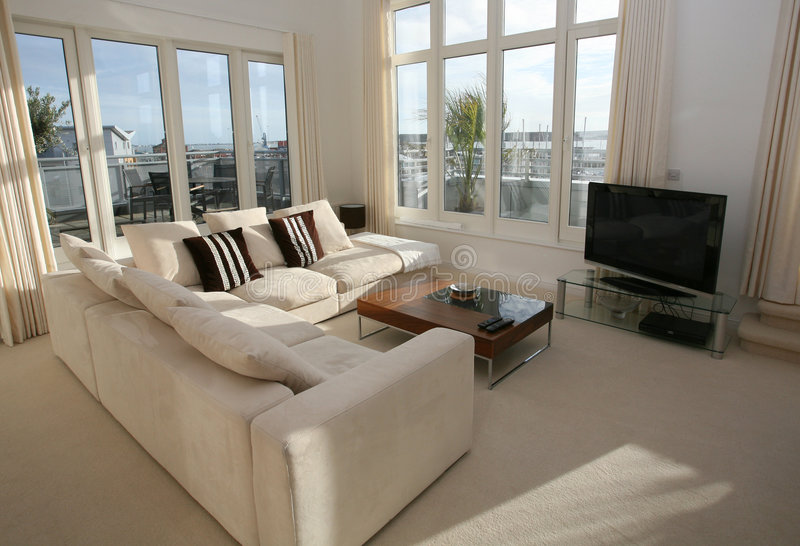 Luxury Living Room Interior stock image