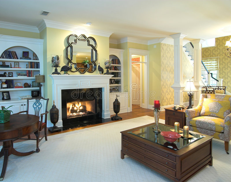 Luxury livingroom stock photo