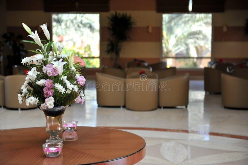 Luxury lobby interior. With bing hall, marble floor, french sash,mosaic tile,comfortable sofa, etc. Hotel. Luxury lobby interior.With bing hall, marble floor royalty free stock photos