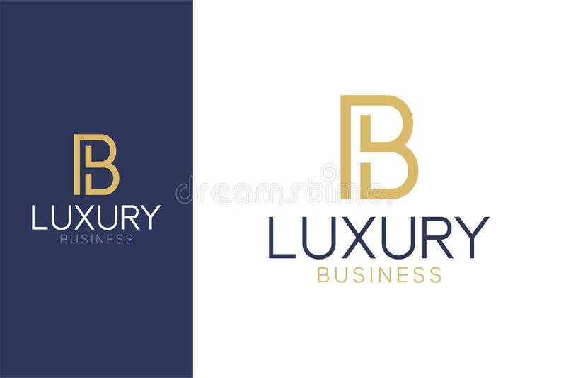 Luxury Logo B modern style royalty free illustration