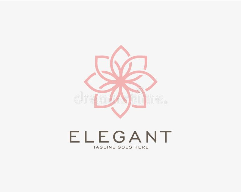 Luxury logo design concept, Flower lotus logo, Beauty or spa logo template vector illustration