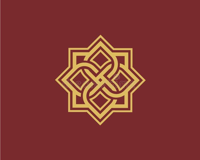 Luxury logo design concept, Flower lotus logo, Beauty or spa logo template royalty free illustration