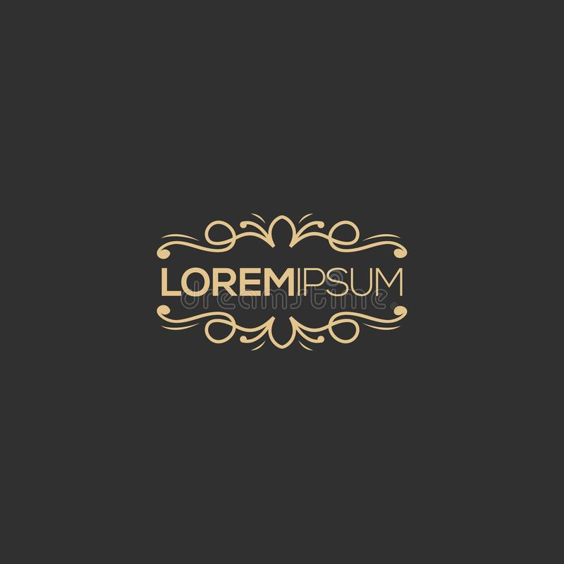 Luxury logo design,vector,illustration ready to use for your company vector illustration