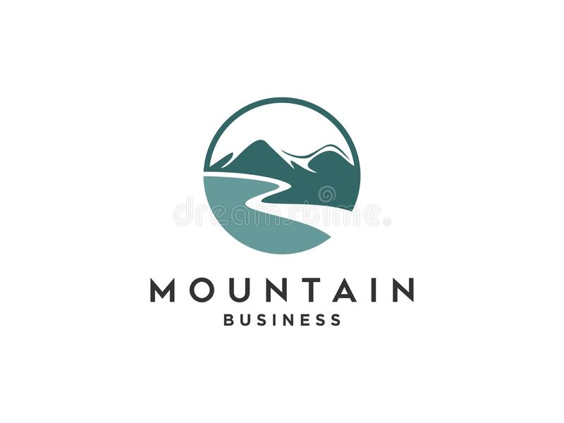Mountain nature landscape logo and symbols icons template royalty free illustration