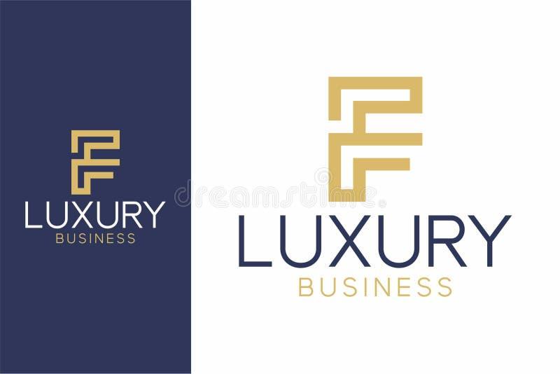 Luxury Logo F modern style royalty free illustration