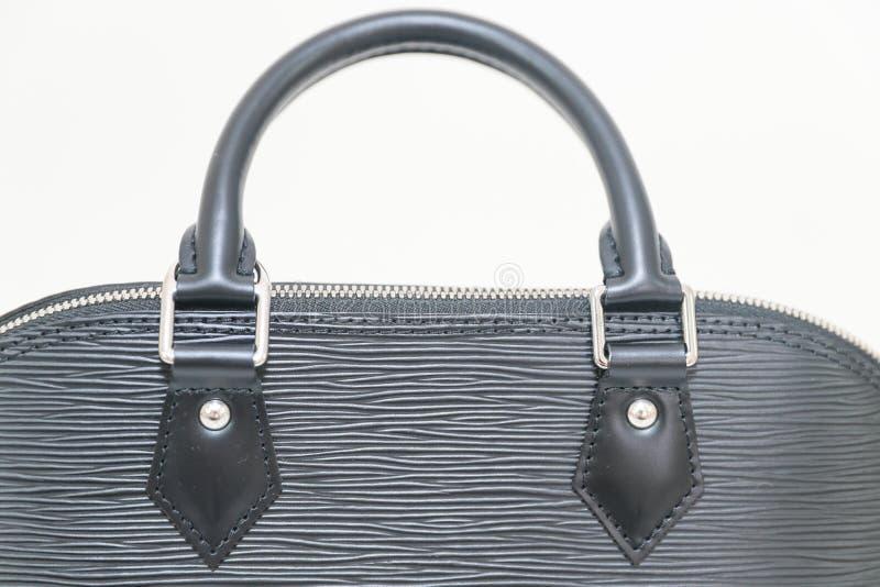 Luxury Louis Vuitton EPI ALMA PM black color handbag stock photos
