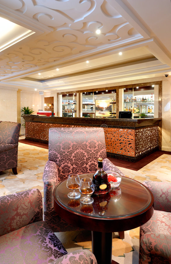 Download Luxury lounge bar interior stock image. Image of table - 7294995
