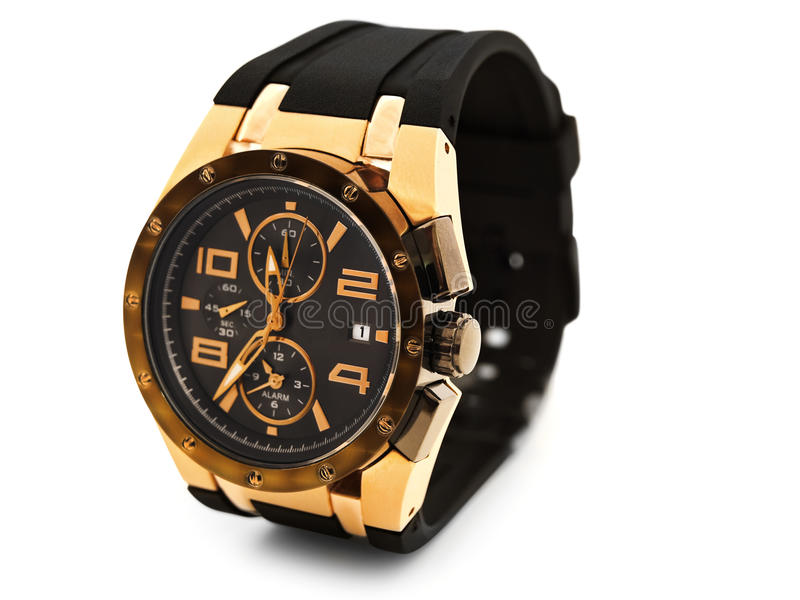 Luxury man watch stock images