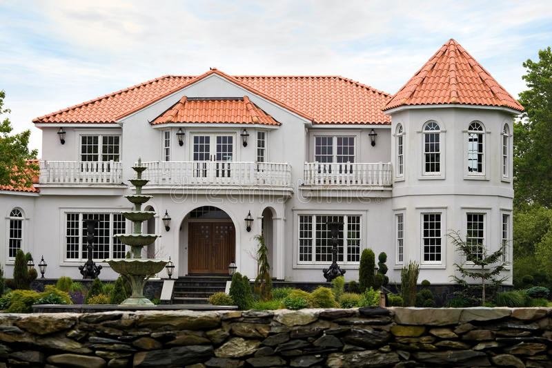Luxury Mansion stock image