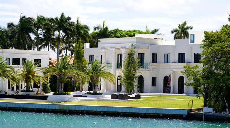 Luxury mansion in Miami stock photo