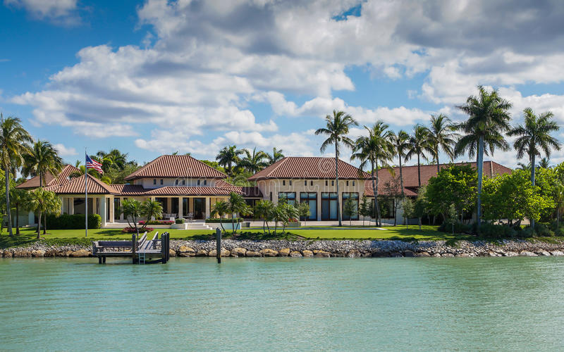 Luxury Mansion in Naples, Florida stock photos