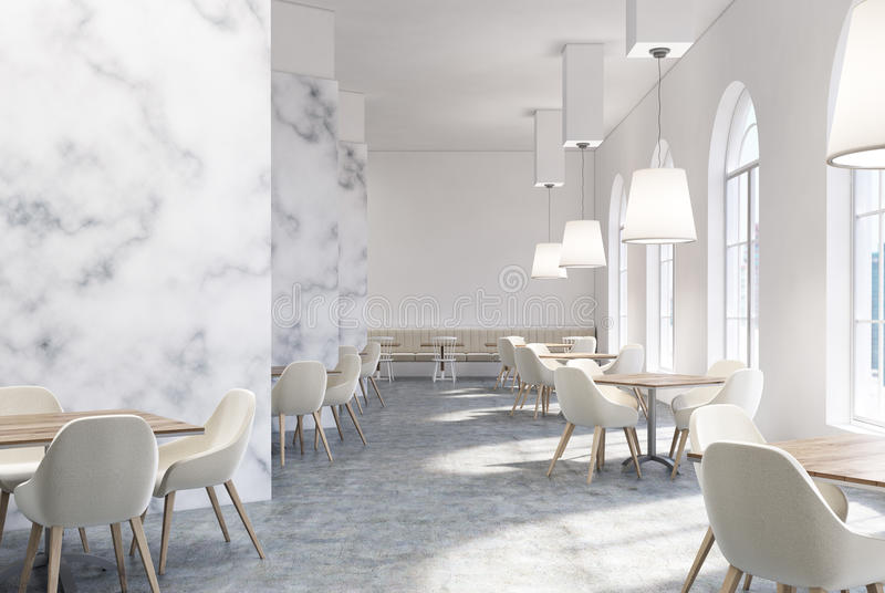 download luxury marble cafe interior white chairs stock illustration image 97376638 - Marble Cafe Decoration