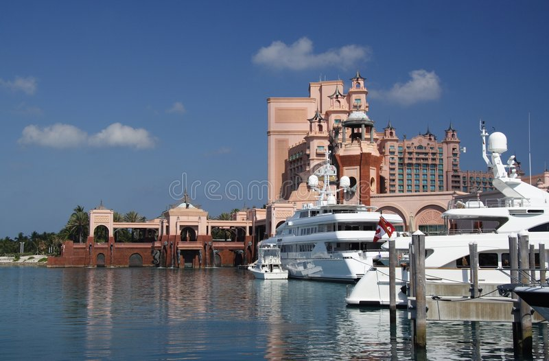 Luxury Marina and Resort stock image