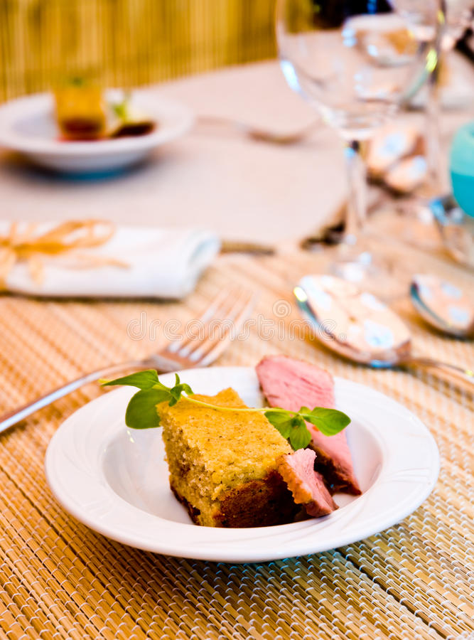 Download Luxury meal stock image. Image of course, dessert, table - 14812805