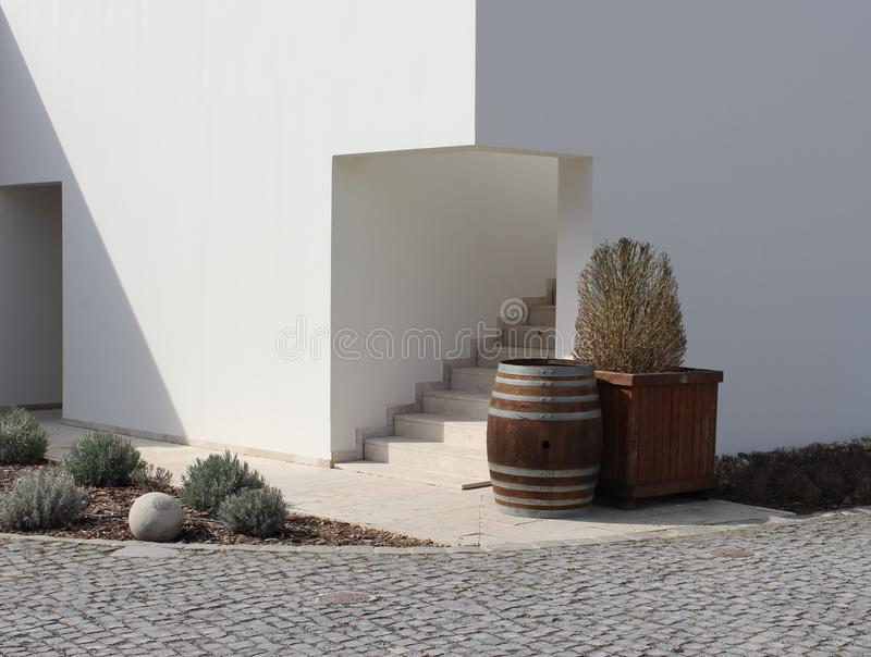 Luxury Mediterranean house corner stock photos