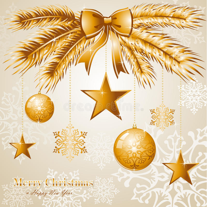 Luxury Merry Christmas background EPS10 vector fil royalty free illustration
