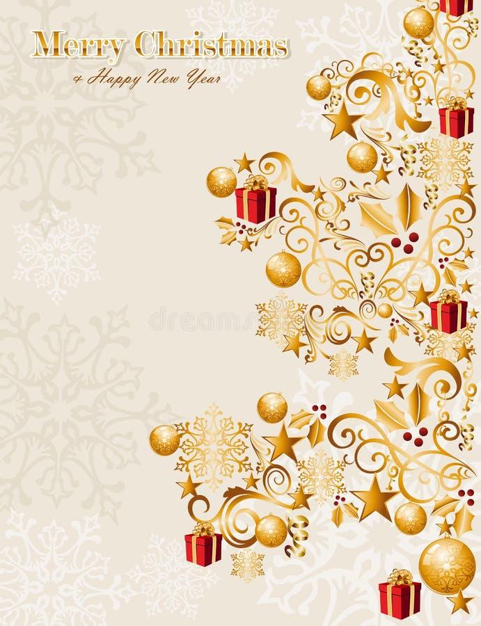 Luxury Merry Christmas tree background EPS10 vecto stock photography