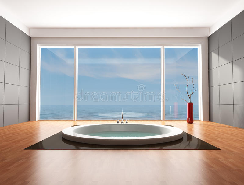 Download Luxury  Minimalist Bathroom Stock Illustration - Image: 12187700
