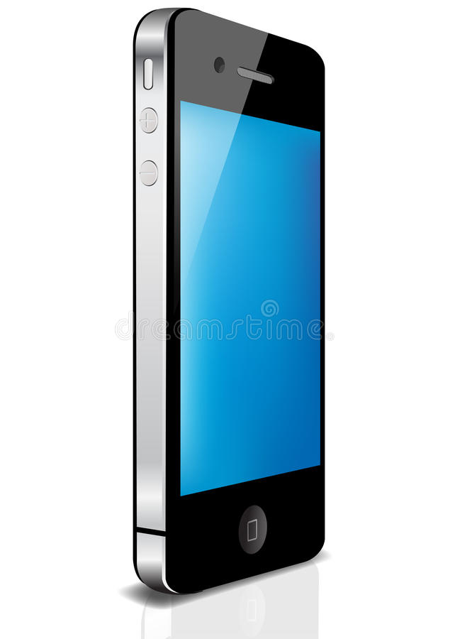 Luxury mobile device. The luxury mobile device on black background vector illustration