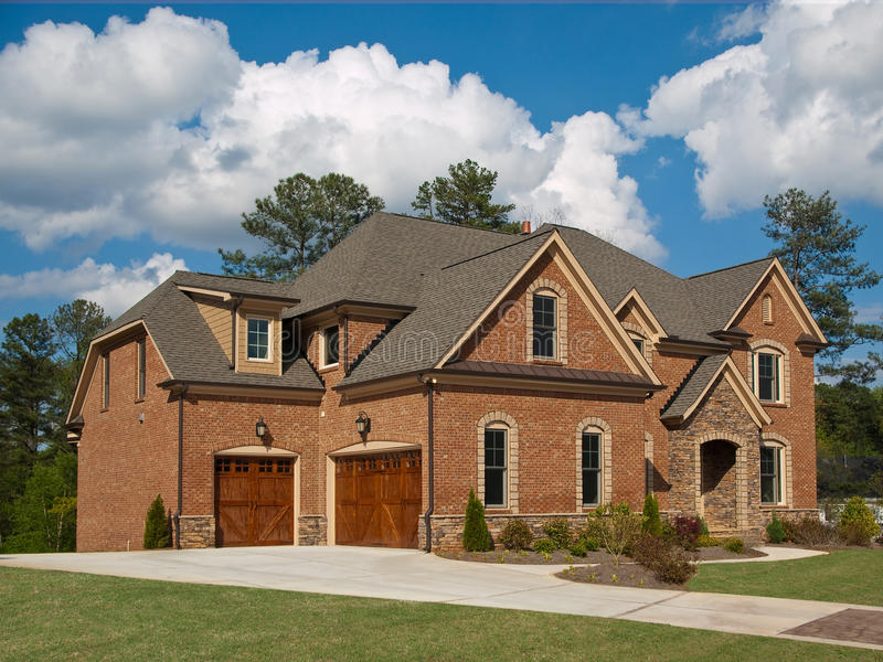 Download Luxury Model Home Exterior Cloud Sky Stock Photo - Image: 9744744