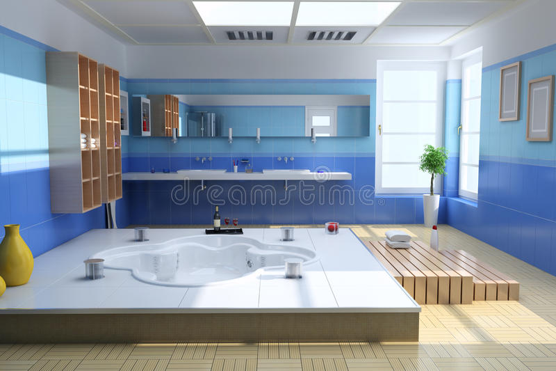 Download Luxury modern bathroom stock illustration. Illustration of domestic - 17334523