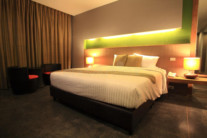 Luxury Modern Master Bedroom Stock Image - Image of indoors ...