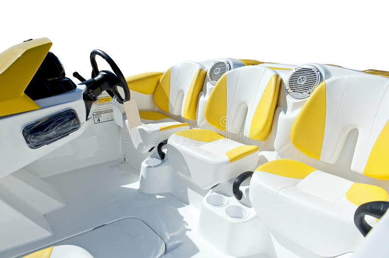 Download Luxury motor boat stock photo. Image of leather, deck - 20872754