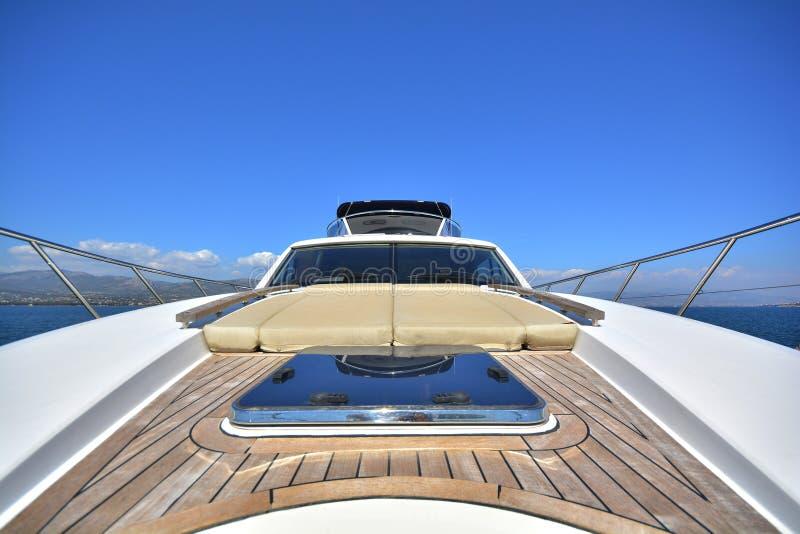 Luxury motor yacht royalty free stock images