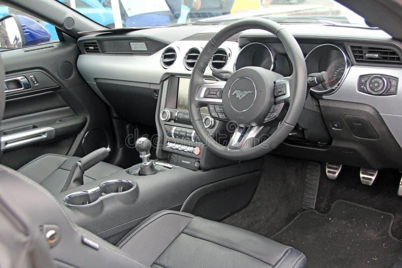 Luxury mustang car interior stock photo