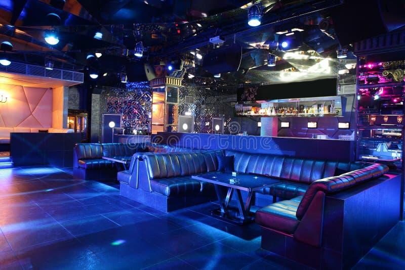 Luxury night club in european style stock photography