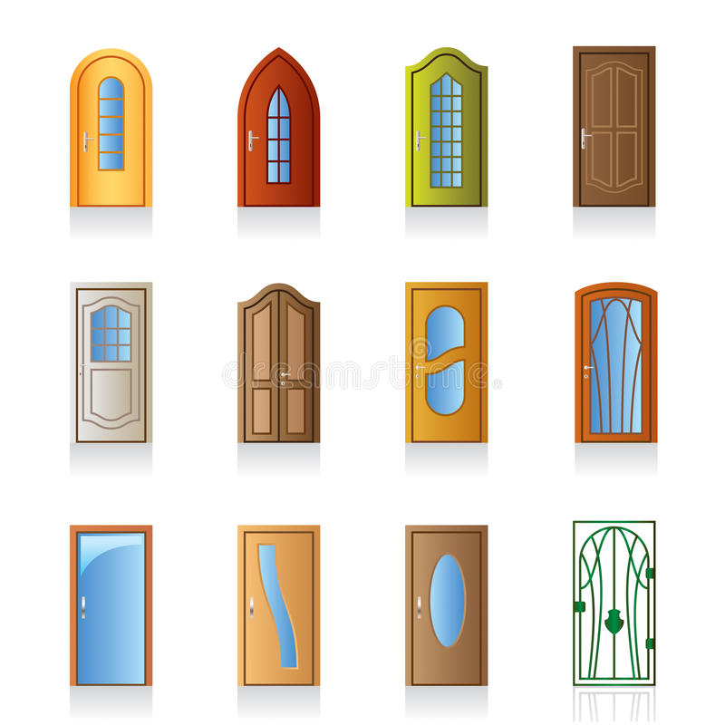 Luxury, office and interior door. Luxury, office, classical and interior doors - vector illustration royalty free illustration