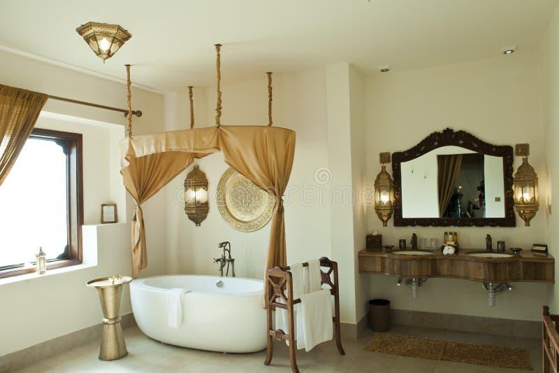 Luxury Oriental Hotel Bathroom, Zanzibar Royalty Free Stock Photography