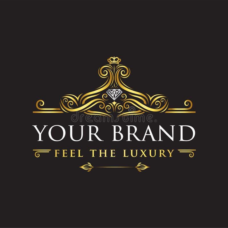 Luxury ornament logo - Vector vector illustration