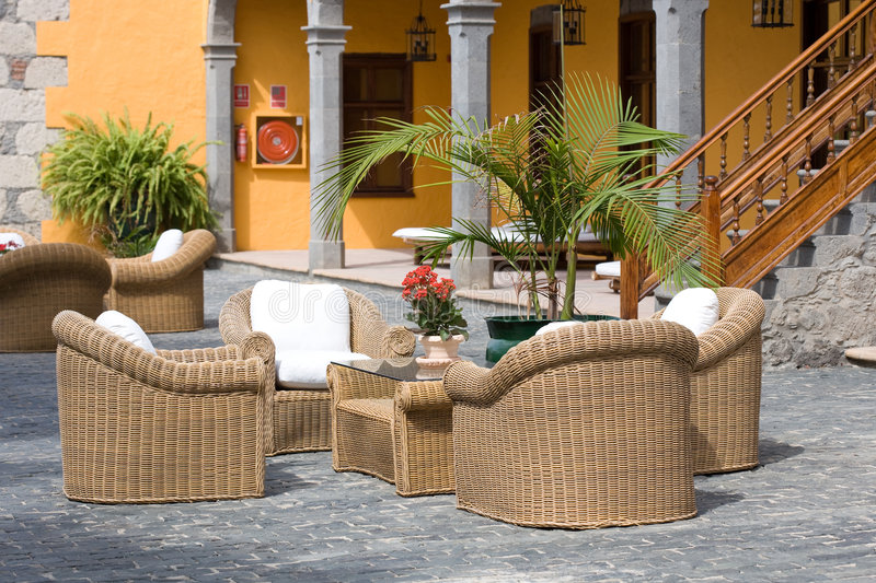 Luxury Outdoor Furniture Stock Photo