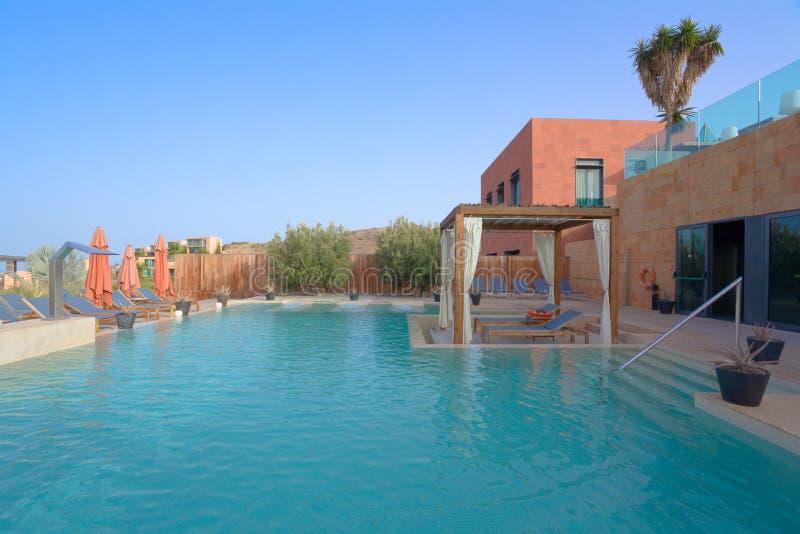 Luxury Outdoor Pool Spa stock photos