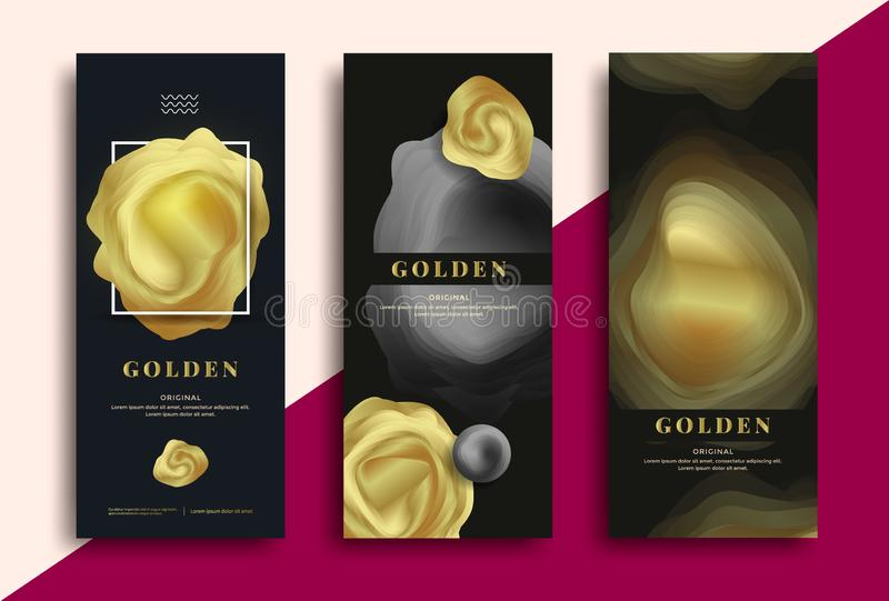 Luxury packaging template vector illustration