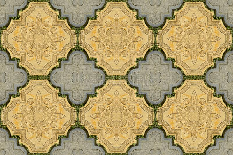 Luxury paving stone textured background. Seamless. Luxury paving stone textured background tiles. Seamless royalty free stock photo